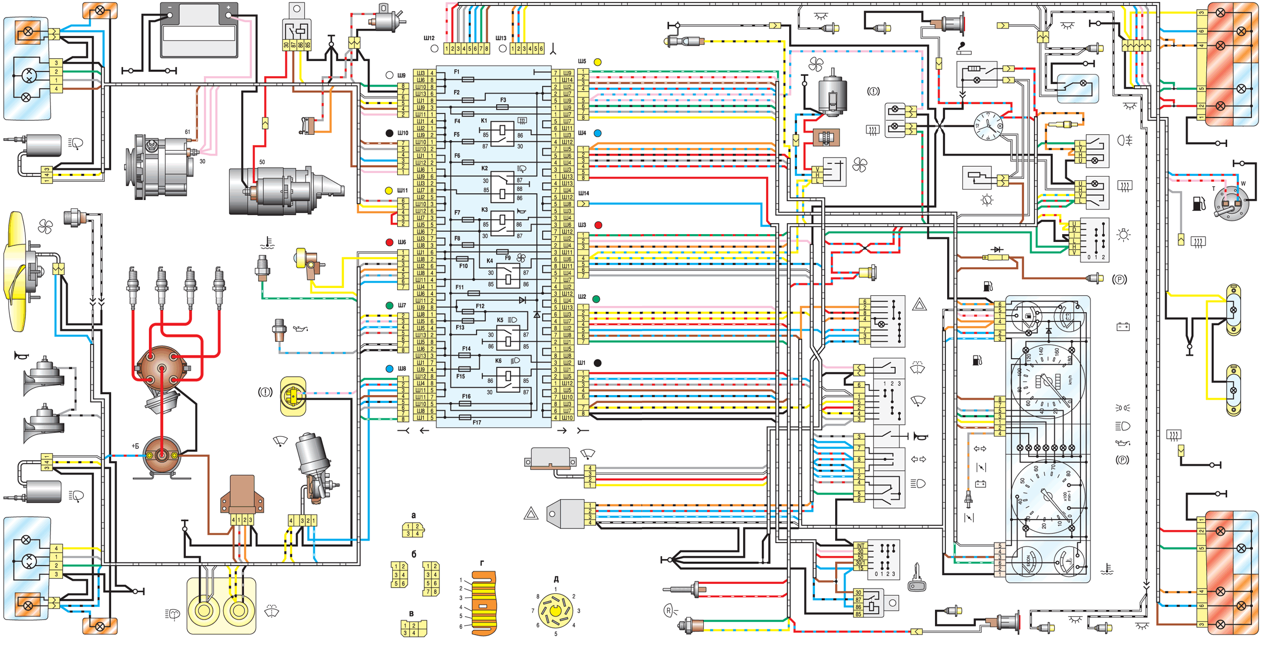 VAZ 2107 Electric Diagram.png.