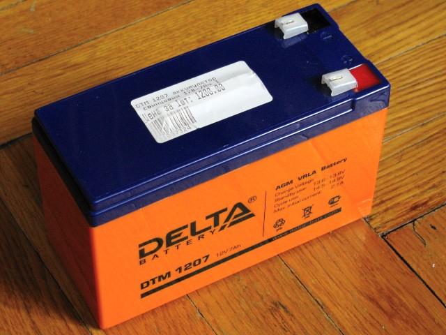 В ибп ippon back power pro 800 установлен аккумулятор yuasa npw 45-12, его ёмкость составила 9 ач, при