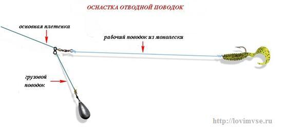 рыбалка отводным поводком на окуня