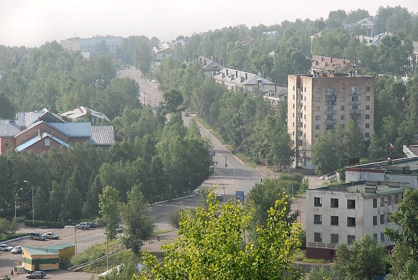 Центральная улица вид с соседней