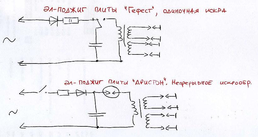 электрические схемы блоков