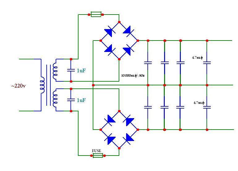 Схема диодный мост трансформатора