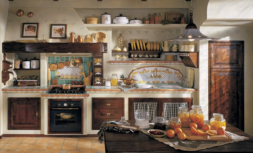 Foto cucine country in muratura 2