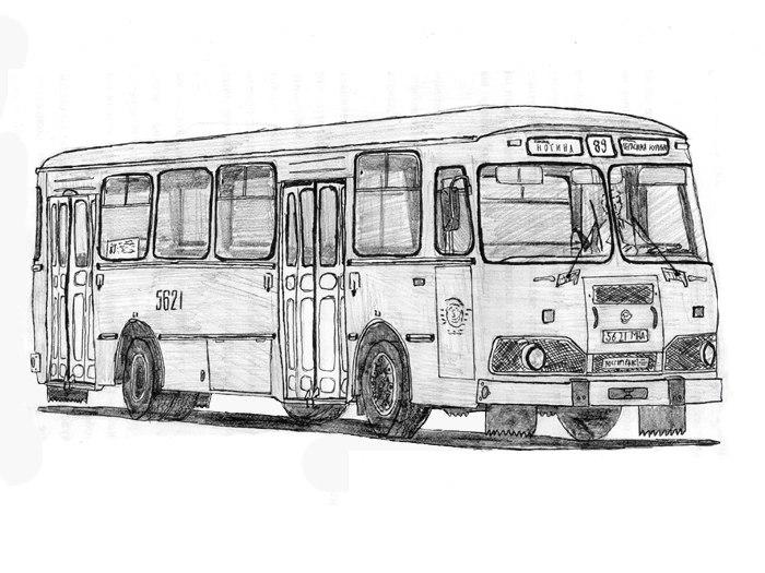 Раскраски автобус лиаз