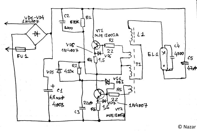 Ремонт люминесцентных светильников с электронным балластом своими руками 83