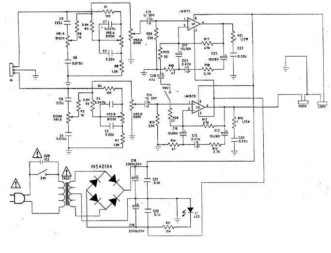 електрическая схема динамика BF 21R