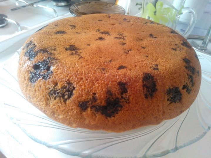 Пирог с  вишней быстрый